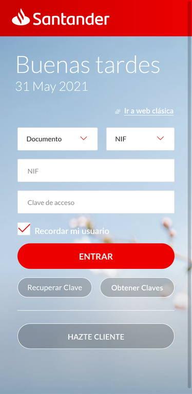 Phishing Santander - Su asesor le ha enviado un mensaje - Web maliciosa